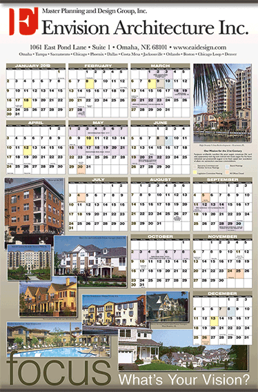 Multi-photo year in view calendar  Aug 3, 2018